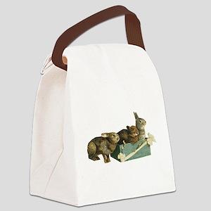 Bunny rabbits Canvas Lunch Bag