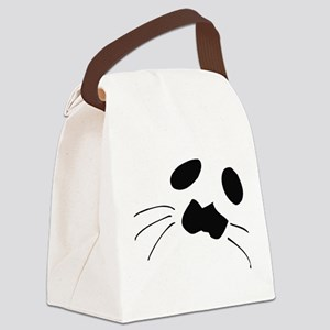 Seal Face Canvas Lunch Bag