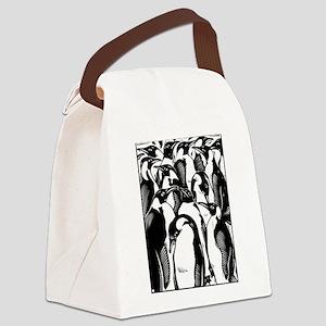 Penquins Canvas Lunch Bag
