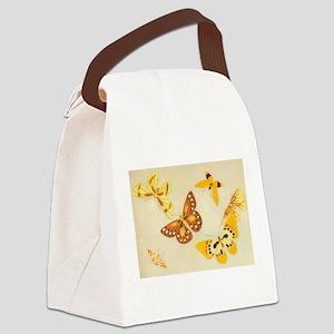 japanese butterflies Canvas Lunch Bag