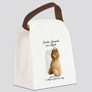 Angel Cocker Canvas Lunch Bag