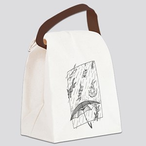 Raining cats & dogs Canvas Lunch Bag