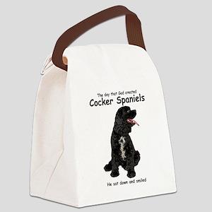 Cocker Spaniel Canvas Lunch Bag