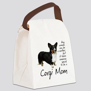 Corgi Mom Canvas Lunch Bag