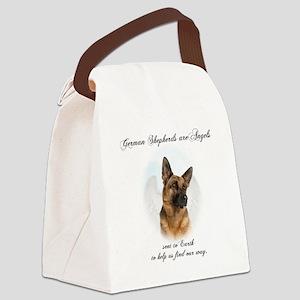 German Shepherd Angel Canvas Lunch Bag