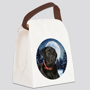 Black Lab Canvas Lunch Bag