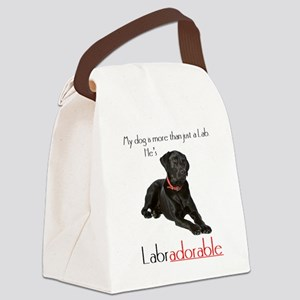 HE's Labradorable Canvas Lunch Bag