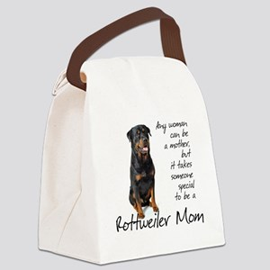 Rottie Mom Canvas Lunch Bag