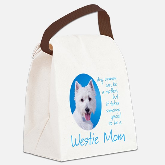 Westie Mom Canvas Lunch Bag