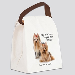 My Yorkies Canvas Lunch Bag