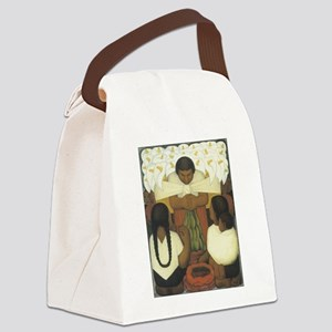 Flower Day Canvas Lunch Bag