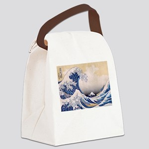 Ukiyoe Hokusai Wave Canvas Lunch Bag
