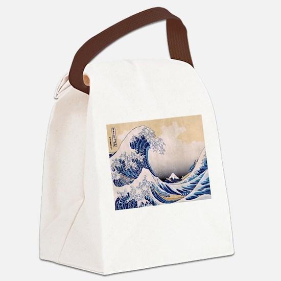 Ukiyoe Hokusai Wave Canvas Lunch Bag