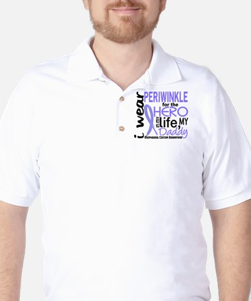 Hero In Life 2 Esophageal Cancer Golf Shirt