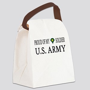 SPC - E4 - Proud of my soldier Canvas Lunch Bag