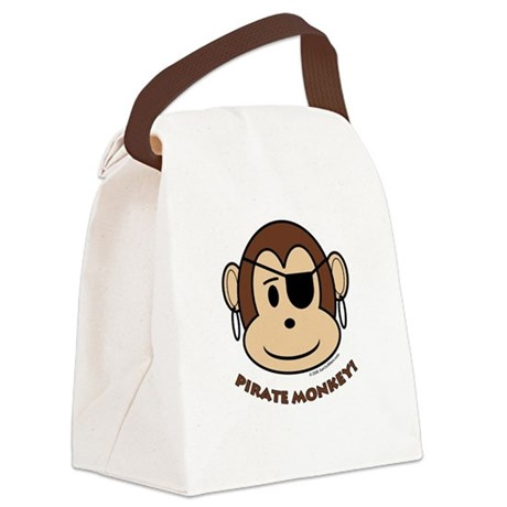 Pirate Monkey Canvas Lunch Bag