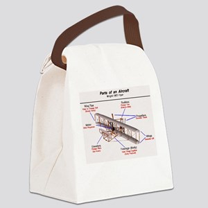 1903 Wright Flyer Parts Canvas Lunch Bag