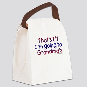 I'm going to Grandma's Canvas Lunch Bag