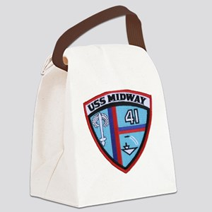 USS MIDWAY Canvas Lunch Bag