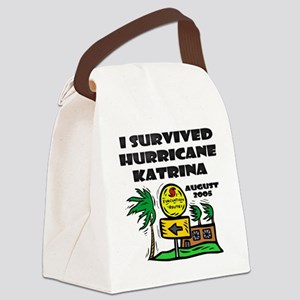 Hurricane Katrina Evacuation Canvas Lunch Bag