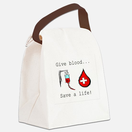 Give blood Canvas Lunch Bag