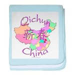 Qichun China Map baby blanket