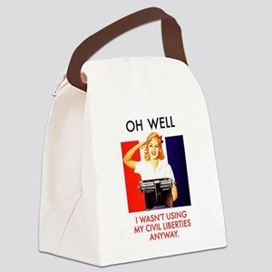 Civil Liberties Canvas Lunch Bag
