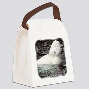 Beluga Head Canvas Lunch Bag