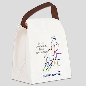 Barrel Racing Canvas Lunch Bag
