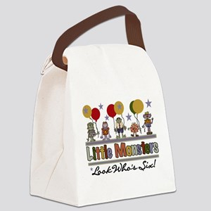 Little Monsters 6th Birthday Canvas Lunch Bag