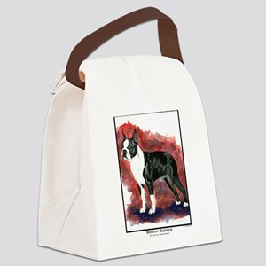 Boston Terrier Painting Canvas Lunch Bag