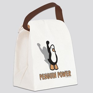 Penguin Power Canvas Lunch Bag