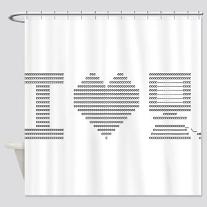 I Heart My Computer Shower Curtain