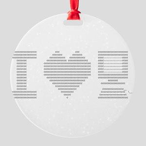 I Heart My Computer Round Ornament