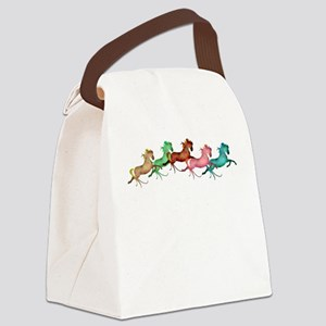many leaping horses Canvas Lunch Bag
