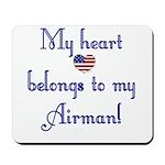My Heart Belongs 2 Mousepad (AF)