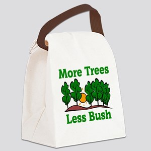 More Trees, Less Bush Canvas Lunch Bag