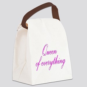 Queen of Everything Canvas Lunch Bag