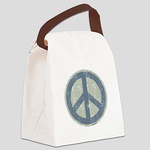 Urban Peace Sign - Denim Canvas Lunch Bag