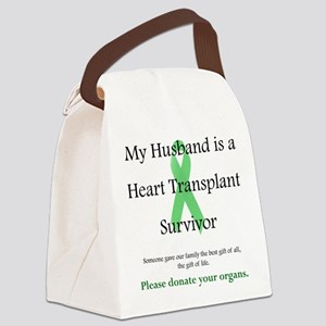Husband Heart Transplant Canvas Lunch Bag