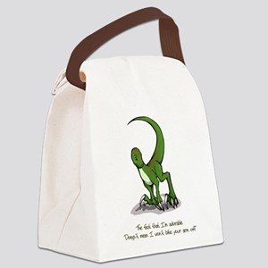 Adorable Velociraptor Canvas Lunch Bag
