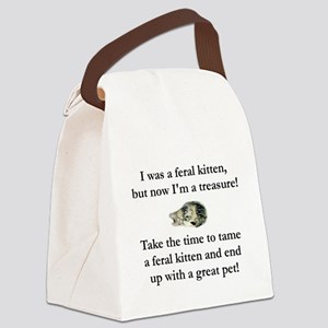 feral kitten tee Canvas Lunch Bag