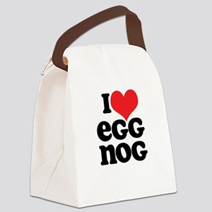 Retro I Love Egg Nog Canvas Lunch Bag