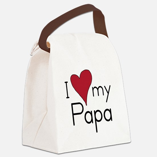 I Love my Papa Canvas Lunch Bag
