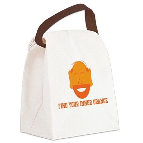 Mr. Tony Inner Orange Canvas Lunch Bag