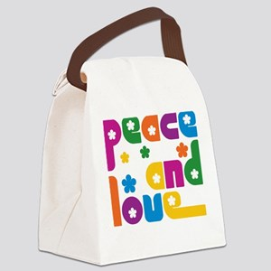 Peace and Love Art Canvas Lunch Bag