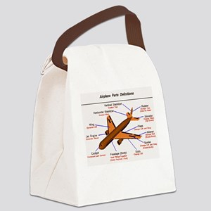 Airplane Parts Canvas Lunch Bag