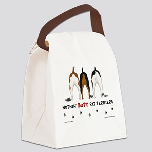 Nothin' Butt Rat Terriers Canvas Lunch Bag