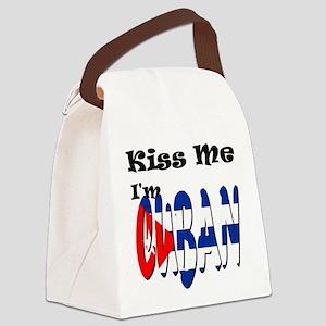 Kiss Me I'm Cuban Canvas Lunch Bag