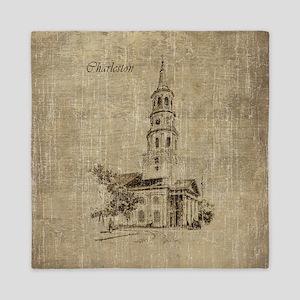 Vintage Charleston St Michael Church Queen Duvet